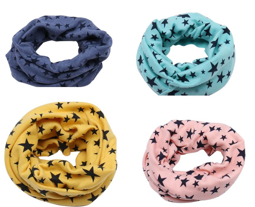 2019 Cartoon Children Boys Girls Baby Wool Ring Scarf Cotton O Ring Printed Scarf Neck Scarves Shawl Warm Winter Neckerchief