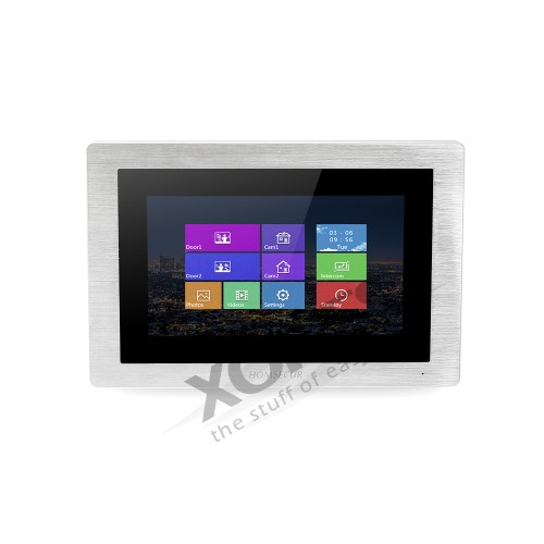 HOMSECUR Touch Screen Monitor For Video Door Phone Intercom System For Apartment BM714-S