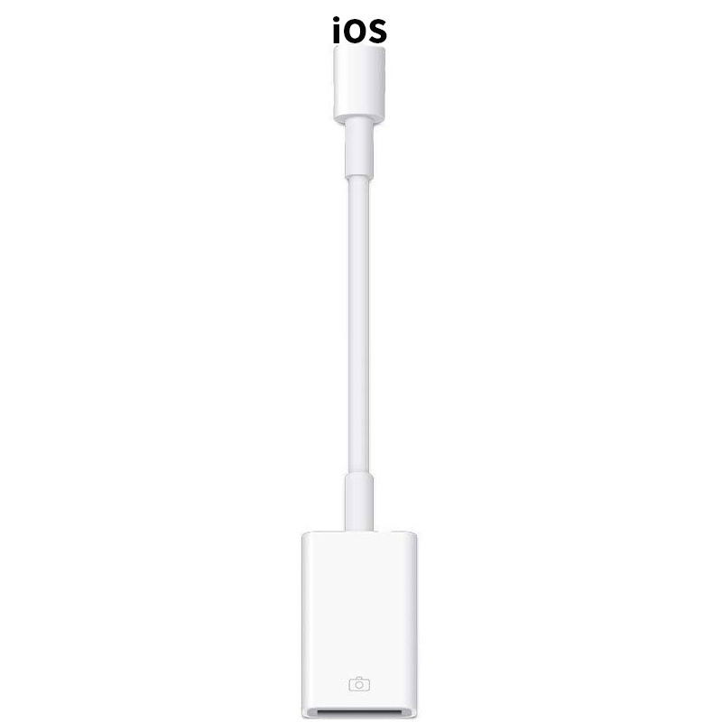 USB Camera Adapter, USB Female OTG Data Sync Cable Compatible With IPhone 11 X 8 7 6 Plus IPad Air Pro Mini, Support Card Reader