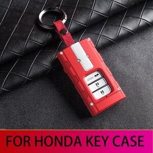 For Honda Key case Civic Accord CR-V CITY HRV JAZZ honda key cover VTEC Honda JDM Refitted key case()