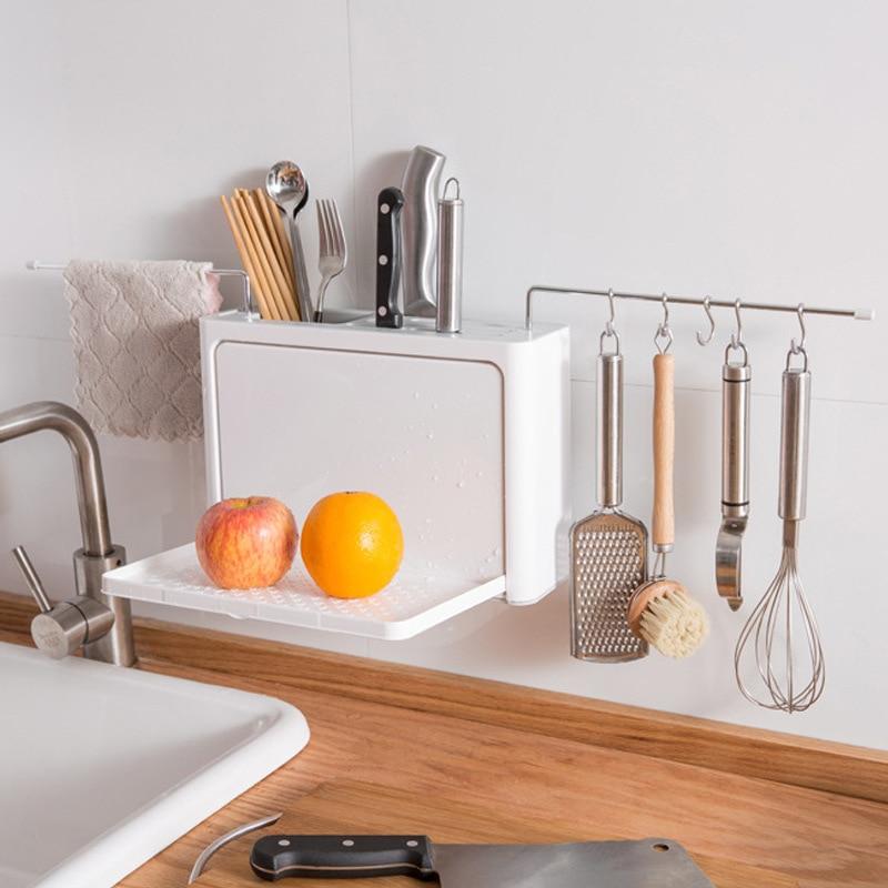 Кухонный ящик для хранения держатель полка настенный палочки для еды клетка для хранения дренажных гвоздей настенные подвесные палочки