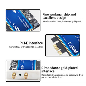 Image 4 - 1200Mbps For Broadcom BCM94360CS2 Desktop PCIWireless Adapter WLAN Wi Fi Card With BT4.0  2.4G/5GHz For Hackintosh Desktop