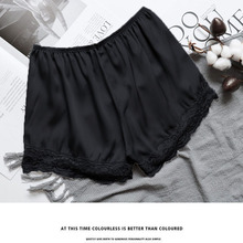 2019 Womens Shorts Summer New Style Fashion Anti-lighting Thin Lace Ice Silk Solid Color Section