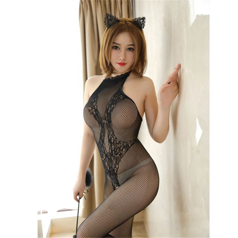 Sex Products Erotic Lingerie  Sex Toys Nylon Siamese Perspective Underwear Body Suit Sexy Lingerie Adult Products
