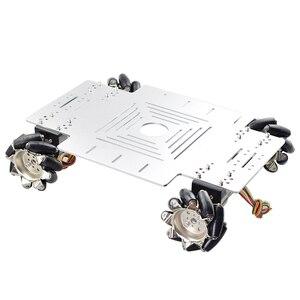 Image 4 - 20KG Big Load 4WD All Metal Mecanum Wheel Robot Car Chassis Kit Platform with DC 12V Encoder Motor for Arduino DIY Project