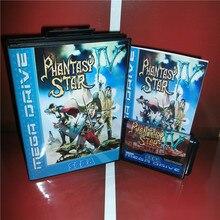 Phantasy Star 4 cubierta de la UE con caja y Manual para Sega Megadrive Genesis, videojuego, tarjeta MD de 16 bits