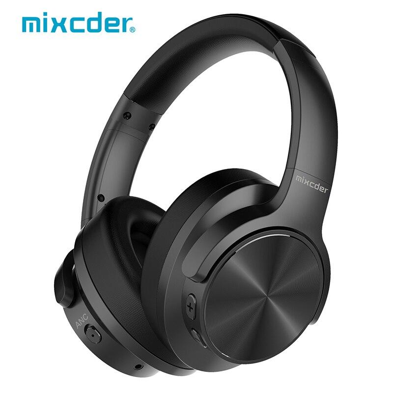 Mixcder E9 Auricolare Attiva del Rumore Che Annulla Cuffia Senza Fili di Bluetooth con Microfono ANC Cuffie Bluetooth Bassi Profondi