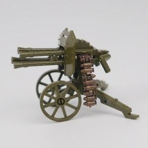 Image 4 - צבאי Solider ערכות דגם צעצוע לילדים אבני בניין צעצועים ותחביבים WW2 ילדים מקלעי נשק צבאי צבא
