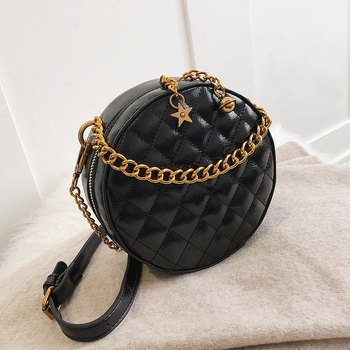 hot sale girls round  small bag women 2020 chain purse pu leather small round bag Shoulder Messenger Bag student coin purse