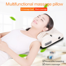 Electric Massage Pillow Shiatsu Massager Device Back Infrared Heating Neck Shoulder Kneading Therapy Home Office Health Care electric infrared heating kneading neck shoulder back body spa massage pillow car chair shiatsu massager masaj device