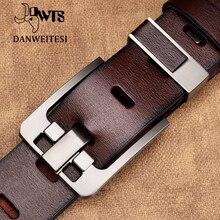 Мужской пояс из натуральной кожи [DWTS], кожаный ремень с пряжкой, стильный аксессуар для мужчин