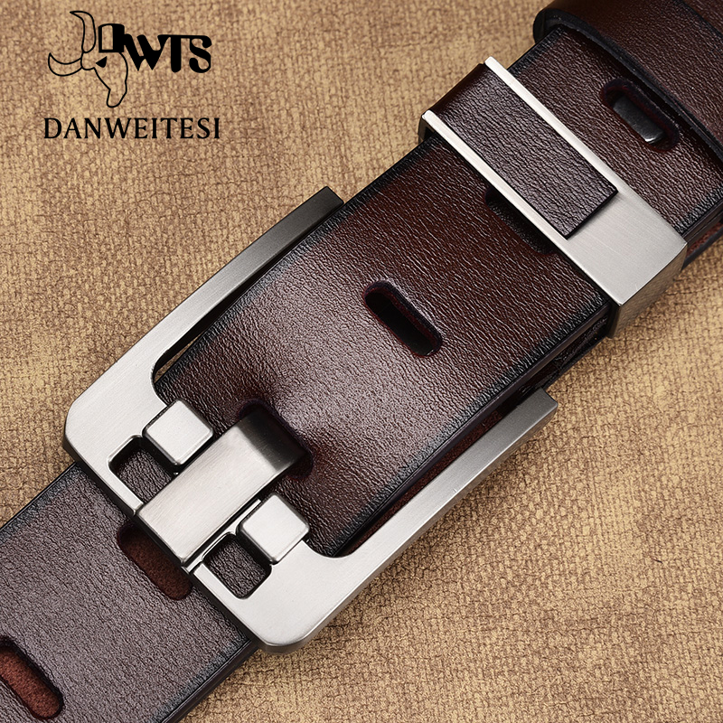 [DWTS]  belt   male leather   belt   men male genuine leather strap luxury pin buckle   belts   for men   belt   Cummerbunds ceinture homme