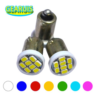 Image 1 - 100pcs AC DC 6V 6.3V BA9S Non polar 8 SMD 1206 3020 T4W LED Bulbs for pinball machine White Red Blue Green Yellow green 6.3V AC