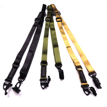 Hunting Two 2 Points Rifle Sling Mount Adjustable Safety Airsoft Tactical Gun Strap Belt Multi-function Bungee System Kit