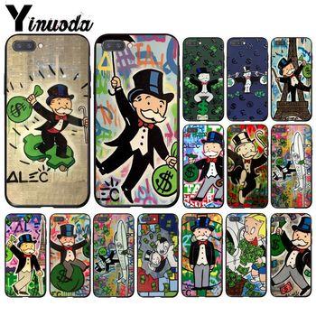Yinooda dibujo dólar momopoliy Graffiti pintura de pared arte teléfono carcasa para Huawei Honor 8A 8X9 10 20 Lite 7A 5A 7C 10i 20i