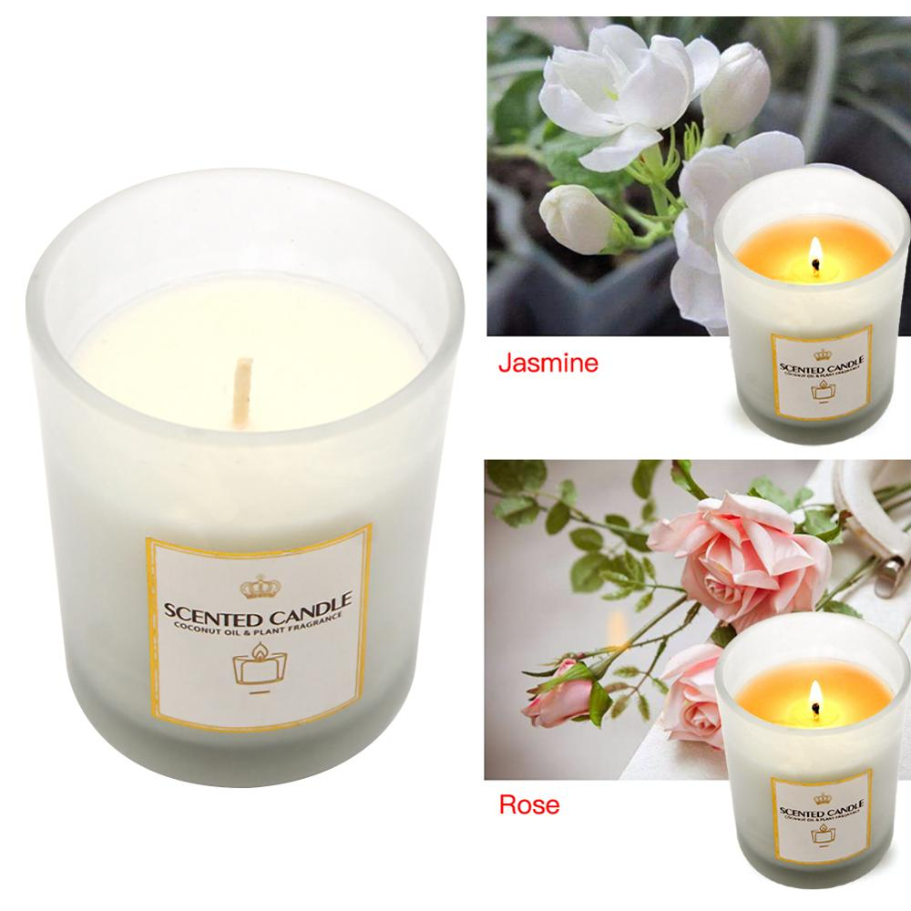 Excellent Jasmine Rose Nordic Scented Handmade Candles Home Decoration Funny Birthday Cards Online Unhofree Goldxyz
