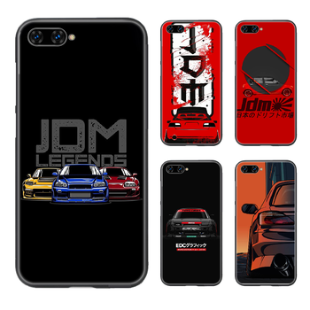 Japan JDM Sports Car Phone Case Cover Hull For HUAWEI honor 8 8c 8a 8x 9 9a 9x V10 MATE 10 20 I lite pro black prime fashion image