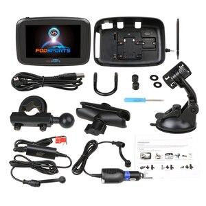 Image 5 - Android 6.0 Fodsports 5 Inch Motorcycle GPS Navigation IPX7 Waterproof Bluetooth Car Moto GPS Navigator 1GRAM+16G Flash Free Map