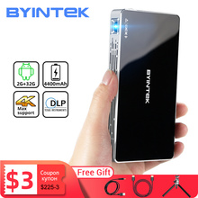 BYINTEK Р10 смарт Андроид WiFi карманный мини Пико Портативный проектор светодиодный проектор DLP лазерный проектор 1080p для Андроид смартфонов с разрешением 4K и 3D