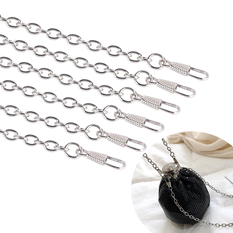 1Pc Metal Chain for Shoulder Strap Bags Woven Chain Handbag Buckle Purse Handle DIY Belt Accessories Replacement Chain 118cm
