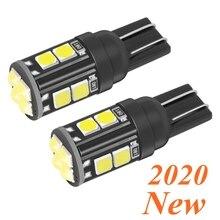 2 sztuk nowy T10 W5W WY5W 168 921 501 2825 Super jasne LED wnętrze samochodu lampka do czytania światła kopułowe Auto lampa parkingowa klin ogon boczne żarówki