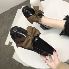Plus Size Oxfords Women Shoes Female Flats Bow Knot Loafers Platform Slip on Sol