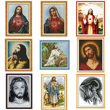 Painting Figure Cross-Stitch-Kit Needlework-Set Embroidery DMC Sacred Jesus Religious