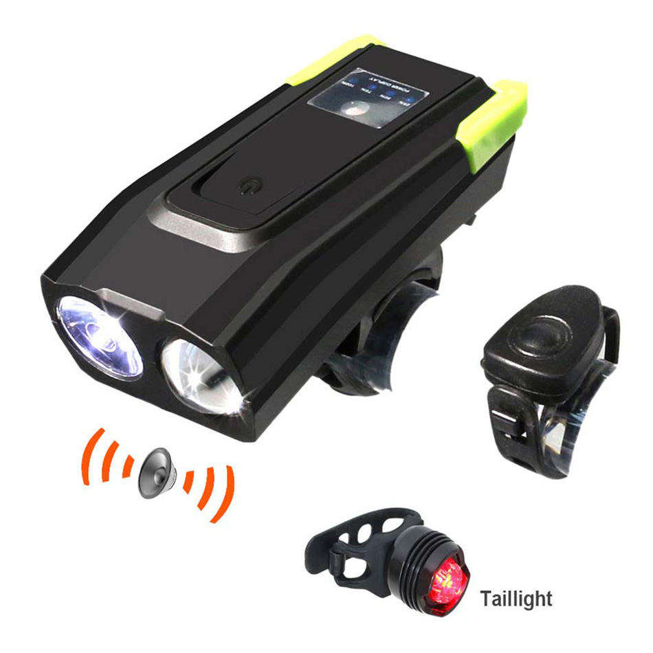 Bicycle light Horn Usb rechargeable bike light riding accessories speaker night riding lights