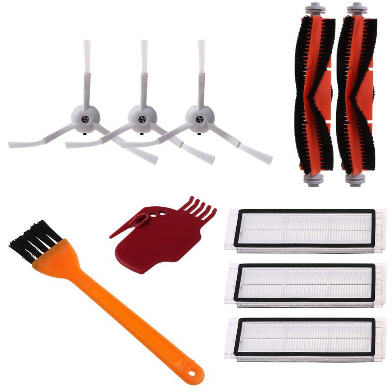 10PCS/Set Main Brushes Side Brush Filter for Xiaomi Mi Robot Vacuum Cleaner Cleaning Tools Accessories Repair Parts
