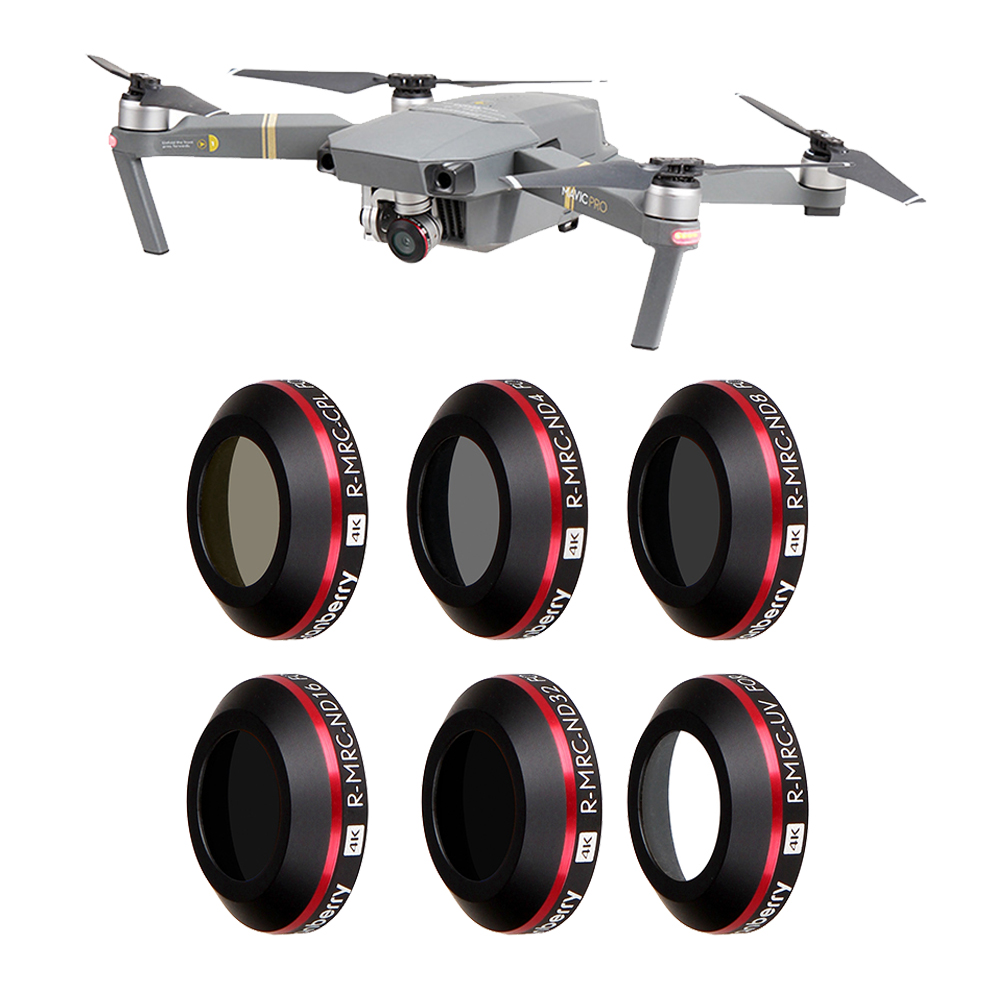 Super Light UV ND4 ND8 ND16 CPL Lens Filter For DJI Mavic Pro Platinum Camera Drone Filter Polarizing Neutral Density Filters