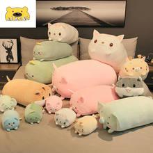 AIXINI Panda Stuffed Animal Soft Cow Plush Hamster Unicorn Pillow Kawaii Pig Plush Pillow Fries Cat Unicorn Plush Cute Dinosaur