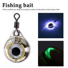 1 шт. светодиодный светильник для рыбалки глубокая капля подводная круглая форма кальмар стробоскоп ночной флуоресцентный свечение форма глаз Приманка