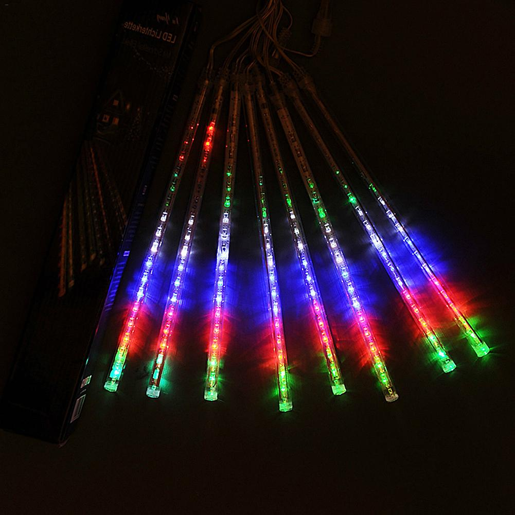 50CM Outdoor Meteor Shower Rain 8 Tubes RGB 288LED String Lights Waterproof Garden Light For Christmas Wedding Party Decoration