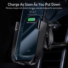 BASEUS الهواء حامل منفذ الهاتف الجاذبية حامل المركبة ل منفذ الهواء حامل هاتف السيارة اللاسلكية شحن قوس