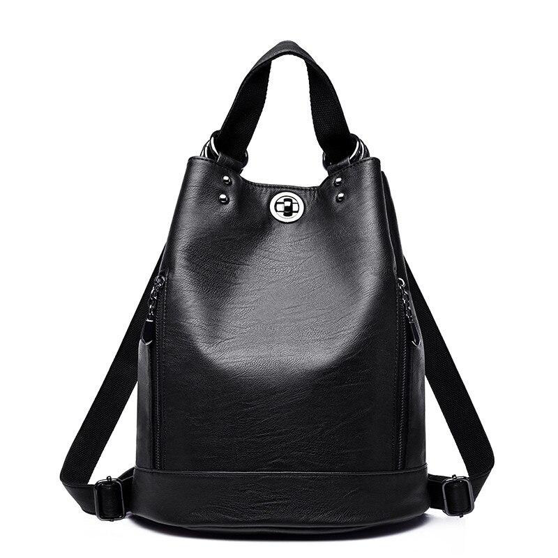 Women's Backpack 2021 Travel Large Backpack PU Leather Handbag Schoolbag For Girls Women's bag Female Shoulder Back mochila