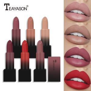 Lipstick Matte Moisturizing Waterproof Velvet Lip Stick 12 Colors Red Brown Pigments Makeup Matte Lipsticks Beauty Lips TSLM2