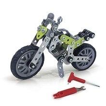 DIY мотоцикл Строительные блоки Набор из нержавеющей стали уличный мотоцикл модель подарок Детская игрушка 188 шт