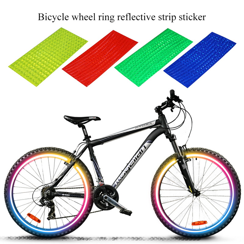 2020 Nieuwe Fiets Reflector Tl Mtb Fiets Fietsen Velg Reflecterende Stickers Decal Accessoires
