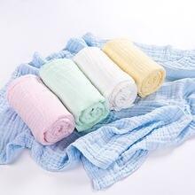6 слойное хлопковое муслиновое детское одеяло мягкое банное