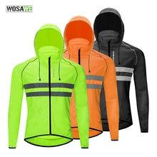 Ветрозащитная куртка для бега wosawe светоотражающая шоссейного