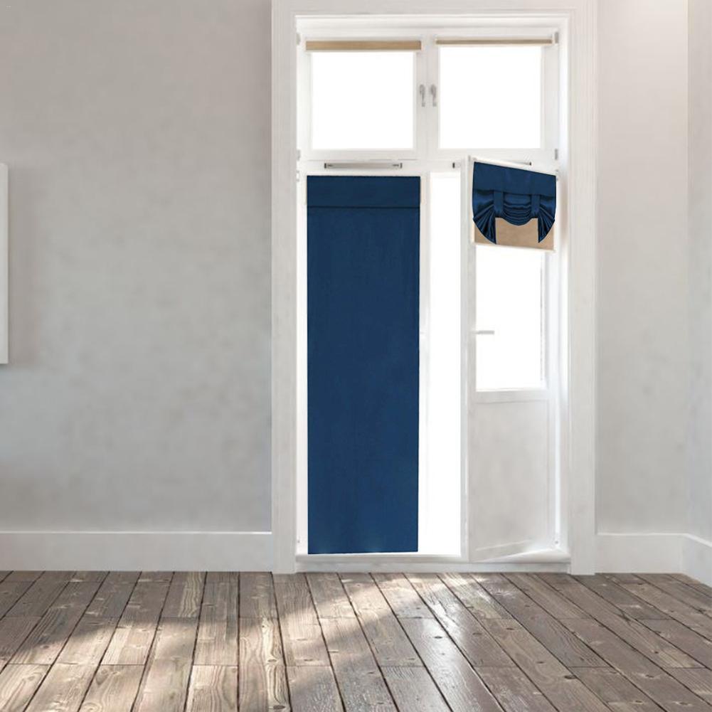 Folding Door Curtain Panel Linen Look
