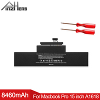 PINZHENG 8460mAh Laptop Battery For Apple Macbook Pro 15 Inch Retina A1398 A1618 2015 Year Replacement Battery With Tools