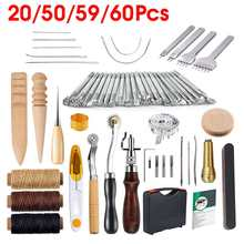 Craft-Tools-Kit Working-Wheels Hand-Sewing Stamping Professional for Stitching 60pcs