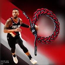 НБА баскетбольная звезда пионер двойной пистолет выгода лдд ЛОР король голова льва спортивная обувь Шнурки Браслет