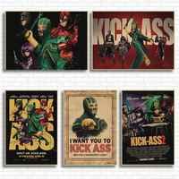 Kick ass movie poster posters stickers retro kraft paper decorative painting wall sticker retro poster