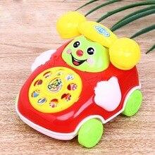 Новые 1 шт цветные случайные детские игрушки музыка мультфильм телефон развивающие, Обучающие Детские игрушки подарок для детей
