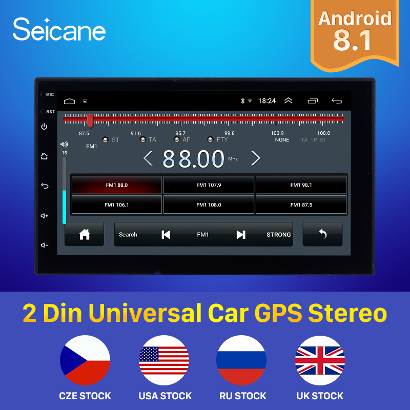 Seicane GPS Multimedia Unit-Player Car-Radio Universal Hyundai RAV4 Nissan TOYOTA Double-Din title=