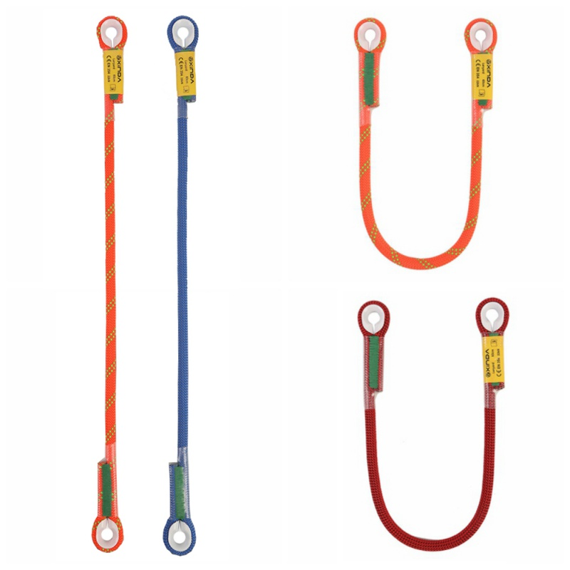 Professional Rock Climbing Rescue Lanyard Protective Eye-to-eye Sling Loop Rappelling Rope Mountaineering Accessories