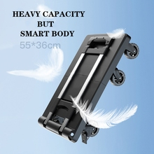 Cart for Auto/moving Portable Hand-Truck Folding Utility Stainless-Steel Heavy-Duty Solid-Construction