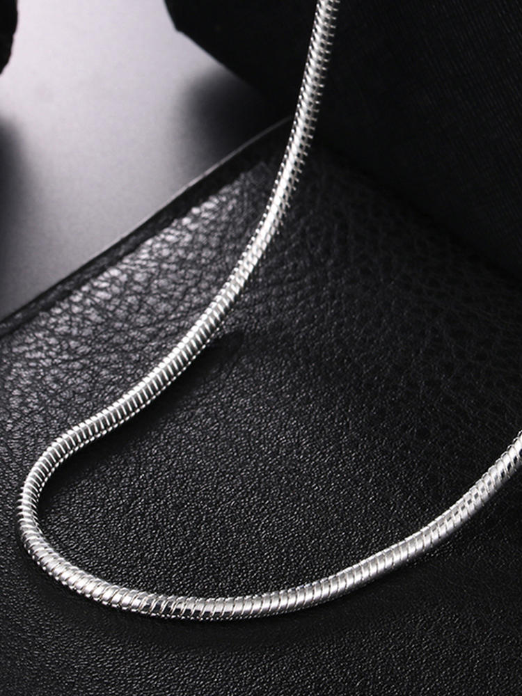 Necklace Snake-Chain Fashion Jewelry 925-Silver Women for 2MM/3MM